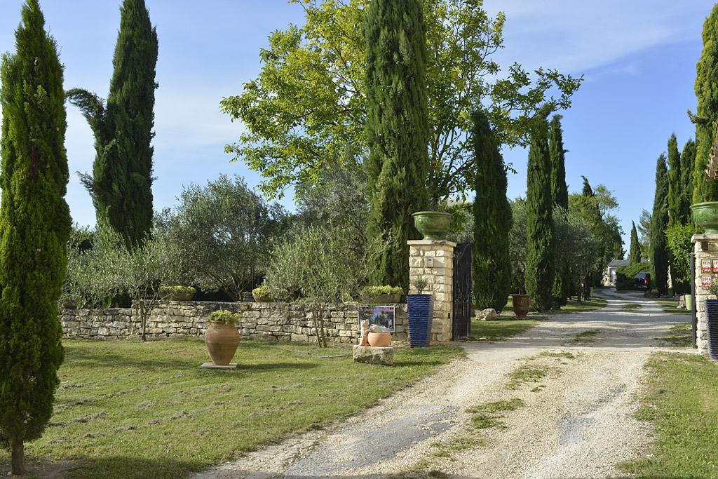 l'entrée de la grange de Mailhac